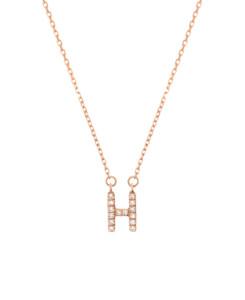 LETTER Halskette H 14K Roségold