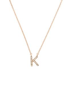 LETTER Halskette K 14K Roségold