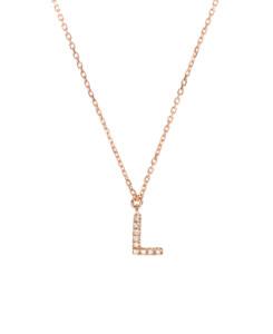 LETTER Halskette L 14K Roségold