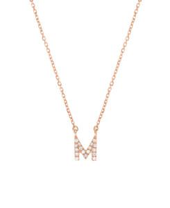 LETTER Halskette M 14K Roségold