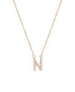 LETTER Halskette N 14K Roségold