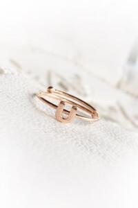LETTERS Ring rosé vergoldet