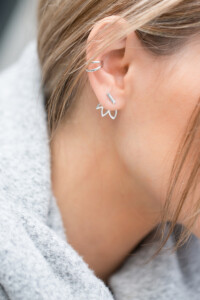 LILY Ear Jackets Sterling Silber