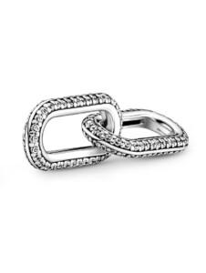 Link – Styling Pavé Double Link – Pandora ME – Pandora Silberfarben