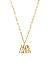 LIVE.LOVE.LAUGH Halskette gelb vergoldet