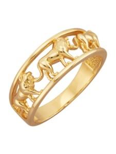 Löwen-Ring Diemer Gold Gelbgoldfarben