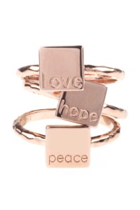 LOVE PEACE HOPE Ringset