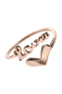 LOVE U Ring rosé vergoldet
