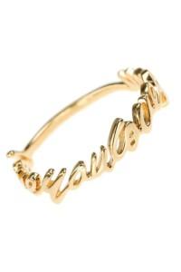 LOVE YOU Ring Sterling Silber vergoldet