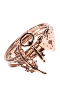LOVELY SYMBOLS Stacking Ring Set rosé vergoldet