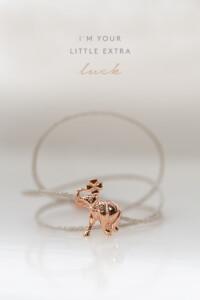 LUCKY ELEPHANT Armband rosé vergoldet
