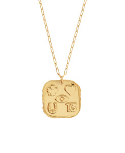 LUCKY SIGNS|Halskette Gold