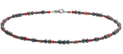 Marc Kolsters: Collier 'Red and Black', Collier, Schmuck