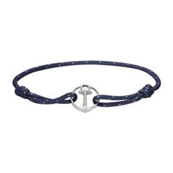 Marineblaues Armband Re/Brace mit Anker