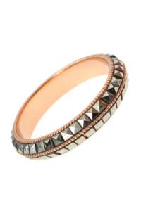 Markasit Ring rosé vergoldet