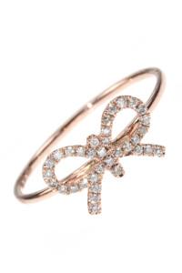 Maschen Diamant Ring Roségold