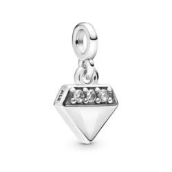 Me Charm Diamant aus Sterlingsilber mit Zirkonia
