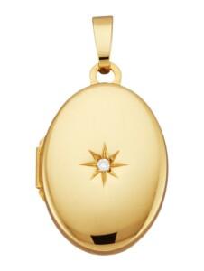 Medaillon-Anhänger Diemer Gold Gelbgoldfarben