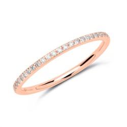 Memoire Ring 585er Roségold 25 Diamanten