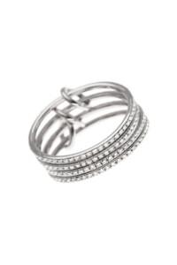 Memoire Ring Weißgold 14k Ringset vier Ringe