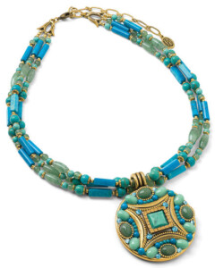 Michal Golan: Collier 'Colour of the Ocean', Collier, Schmuck