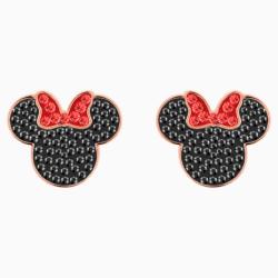 Micky & Minnie Ohrringe, schwarz, Rosé vergoldet