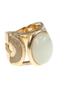Mint Jade Cocktail Ring vergoldet