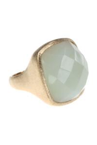 Mint Jade Ring vergoldet