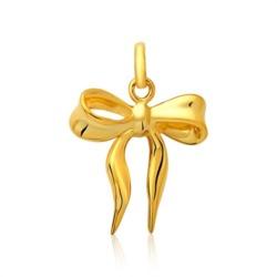 Moderner 925 Silberanhänger Schleife vergoldet
