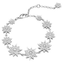 Moonsun Armband, Weiss, Rhodiniert