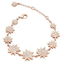 Moonsun Armband, Weiss, Rosé vergoldet
