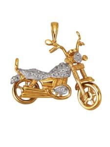 Motorrad-Anhänger Diemer Gold Weiß