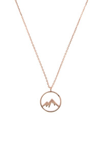 MOUNTAIN Halskette Rosé vergoldet