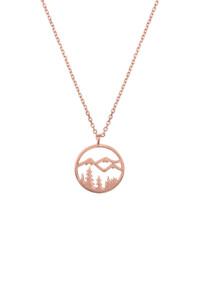 NATURE LOVER Halskette rosé vergoldet