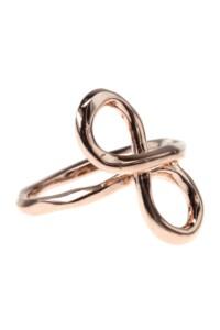 NEW INFINITY Ring rosé vergoldet
