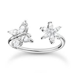 Offen gestalteter Ring aus Silber