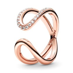 Offener Unendlichkeits Ring für Damen, ROSE