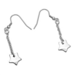 Ohrhänger aus Edelstahl in Sternform