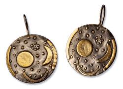 Ohrhänger 'Himmelsscheibe von Nebra', Bronze