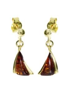 Ohrhänger – Imke – Gold 585/000 – Bernstein OSTSEE-SCHMUCK gold