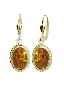 Ohrhänger – Julie – Gold 585/000 – Bernstein OSTSEE-SCHMUCK gold