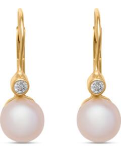 Ohrhänger mit Perlen aus 375 Gelbgold