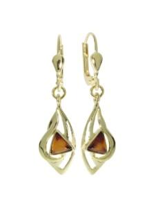 Ohrhänger – Sadie – Gold 585/000 – Bernstein OSTSEE-SCHMUCK gold