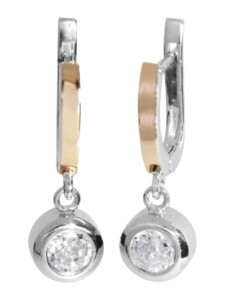 Ohrhänger – Sunny Exklusiv – Silber 925/000 & Gold 585/000 – Zirkonia OSTSEE-SCHMUCK silber