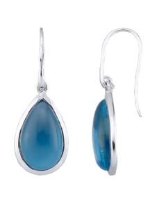 Ohrhaken mit Quarz-Cabochons Jamelli Blau