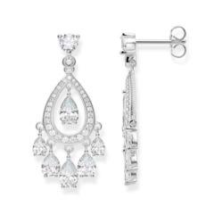 Ohrringe Chandelier aus 925er Silber mit Zirkonia