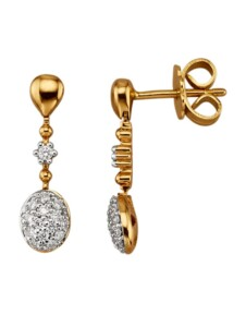 Ohrringe Diemer Diamant Gelbgoldfarben