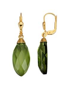 Ohrringe Diemer Farbstein Grün