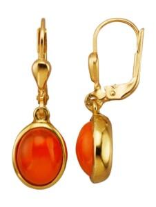 Ohrringe Diemer Farbstein Orange