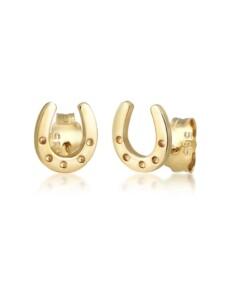 Ohrringe Hufeisen Glücksbringer Symbol Luck 585Er Gelbgold Elli Premium Gold